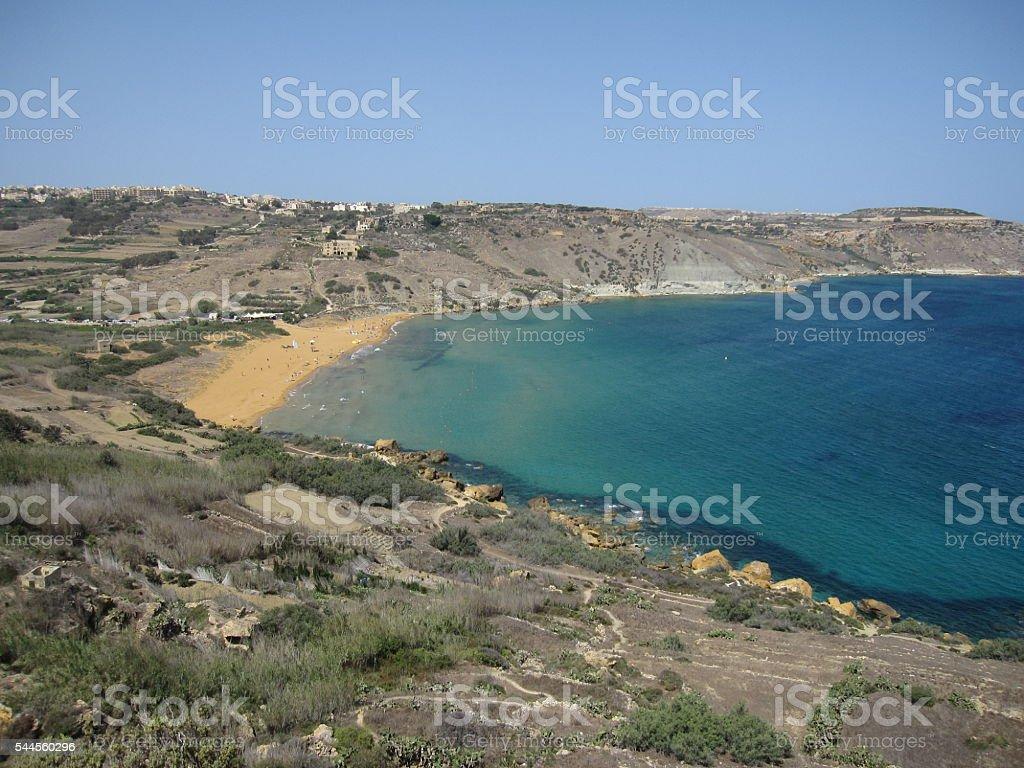Ramla Bay, Gozo in Malta stock photo