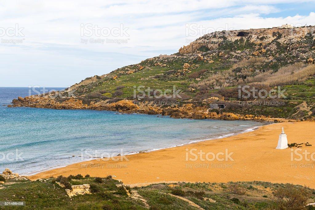 Ramla Bay, Gozo island, Malta stock photo
