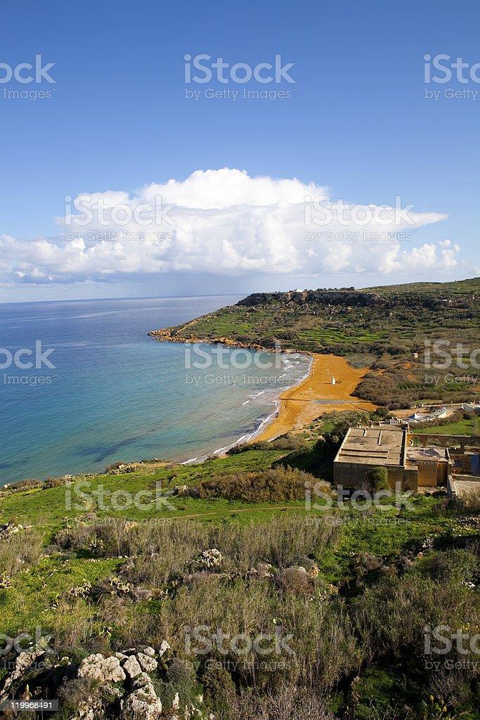 Ramla Bay, Gozo Island stock photo