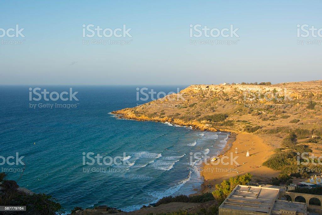 Ramla bay, Gozo, Malta stock photo