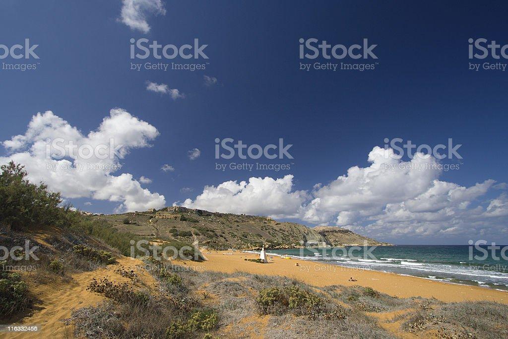 Ramla Bay, Gozo stock photo