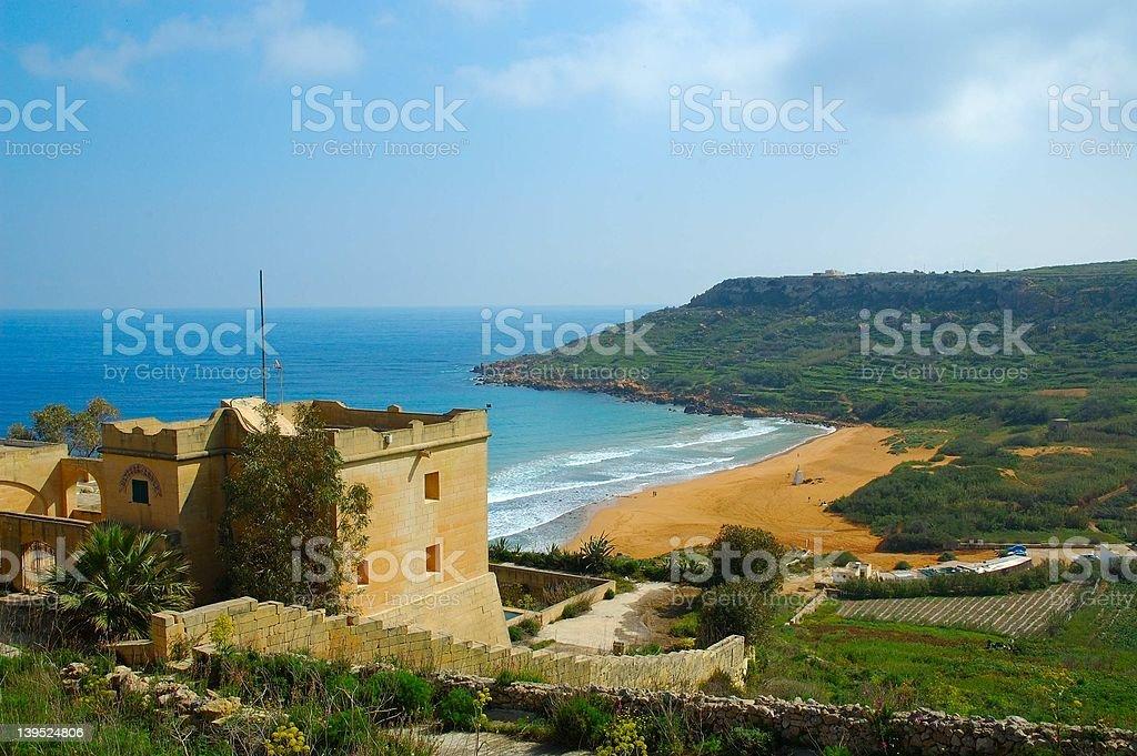 Ramla Bay, Gozo (Malta) stock photo