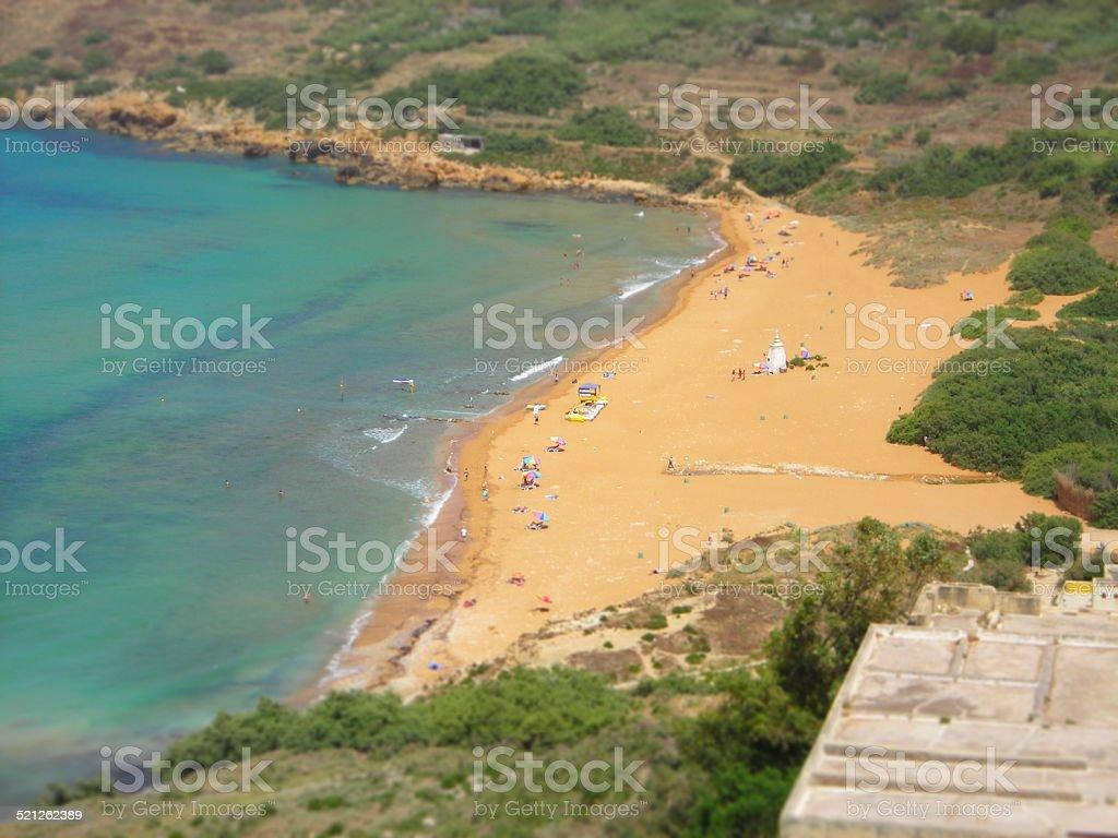 Ramla beach, Malta stock photo