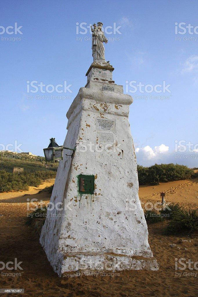 Ramla beach, Maltese island of Gozo stock photo