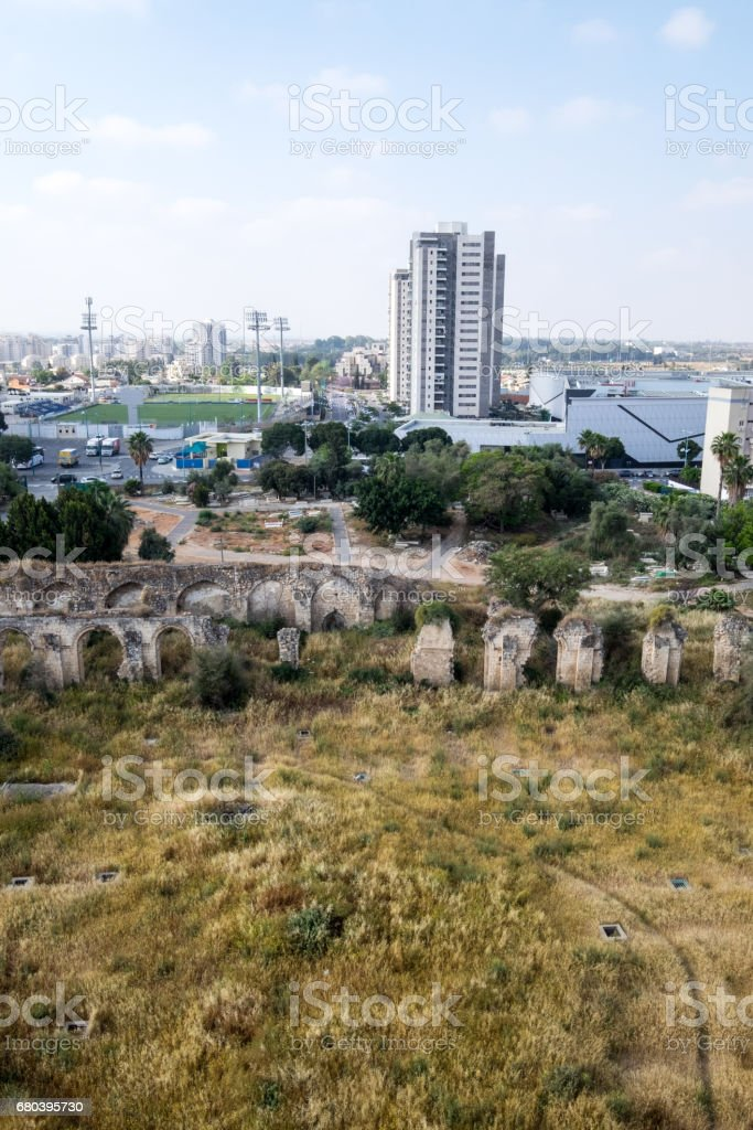 Ramla cityscape on a sunny day stock photo