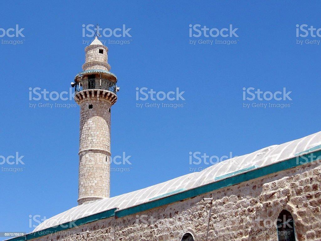 Ramla minaret of Great Mosque 2007 stock photo