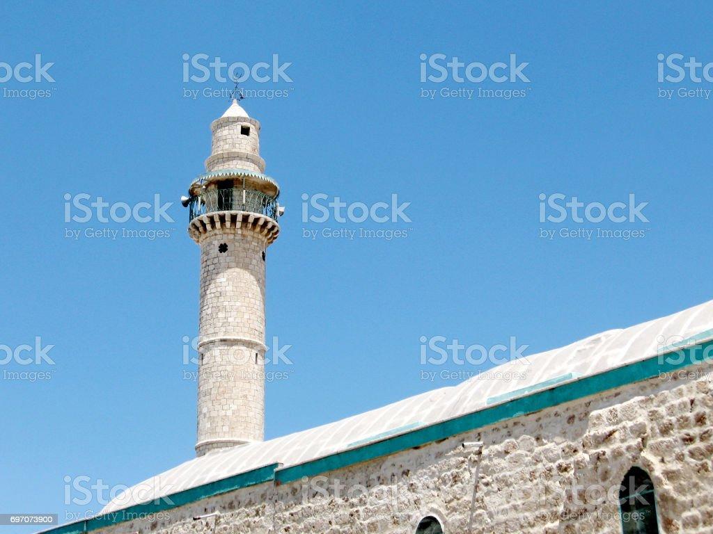 Ramla the minaret of Great Mosque 2007 stock photo