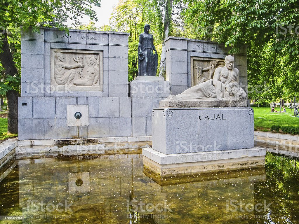 Ramon y Cajal sculpture royalty-free stock photo