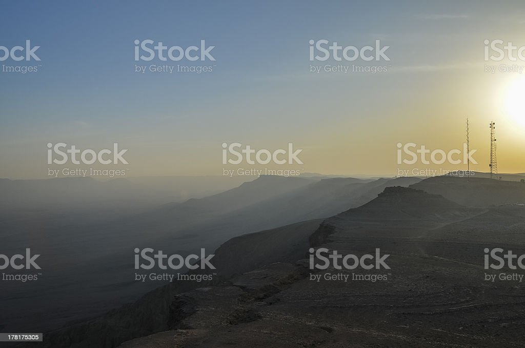 Ramon Crater in the Negev desert royalty-free stock photo