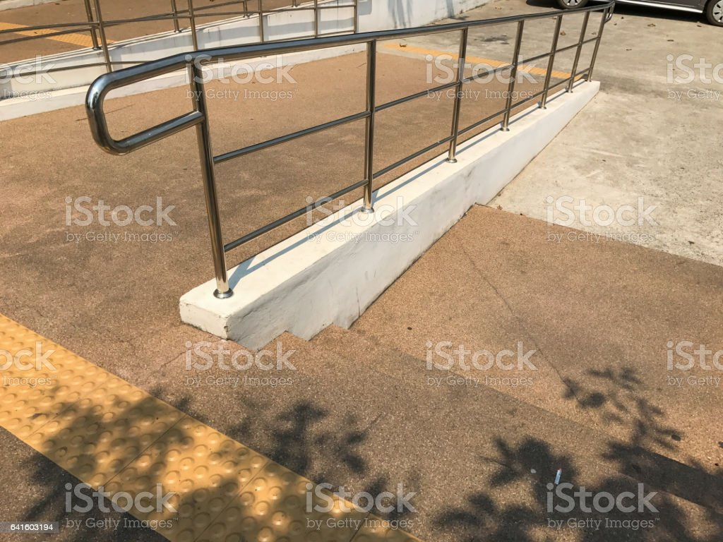 ramp way for  disable stock photo