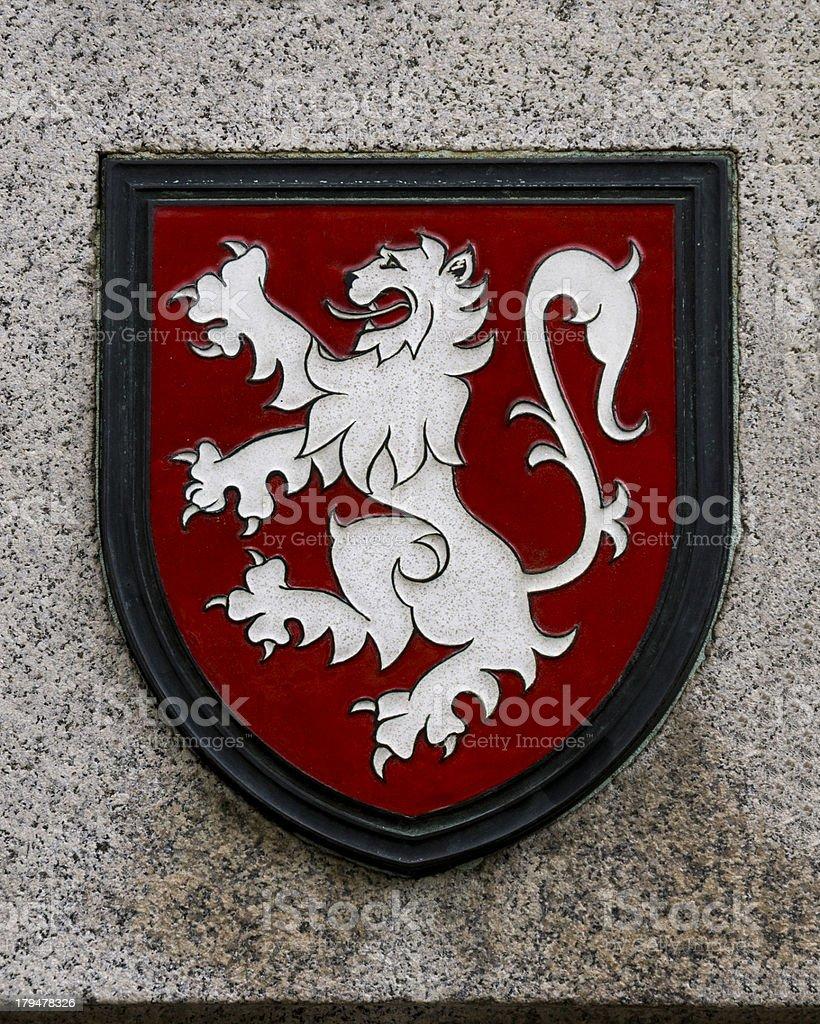Rampant Lion Royal Standard of Scotland stock photo