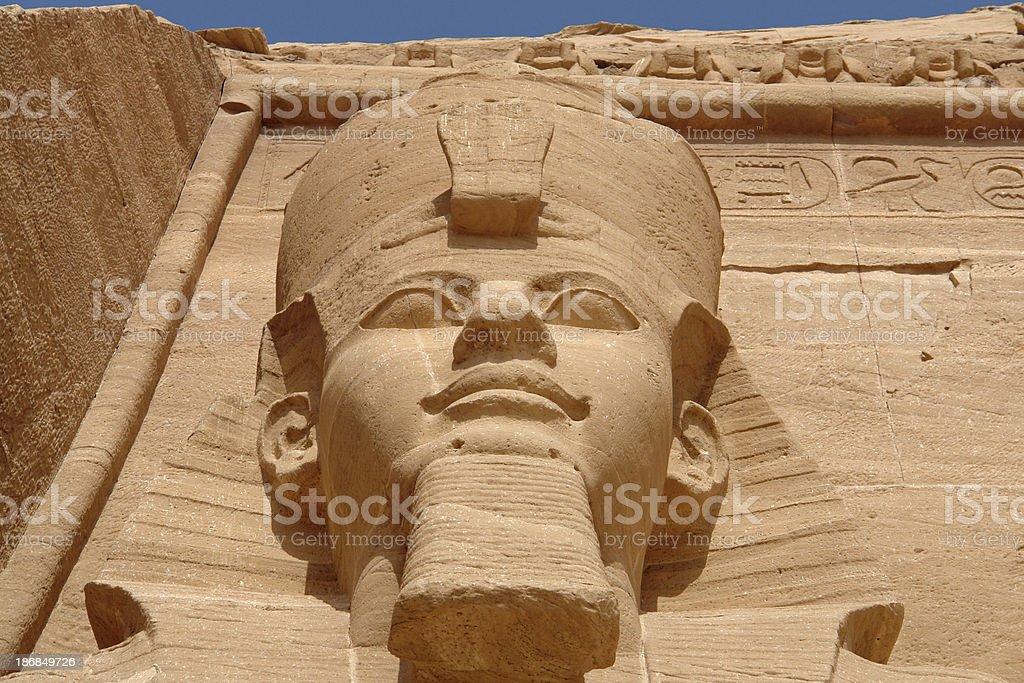 Ramses 2 in Abu Simbel royalty-free stock photo