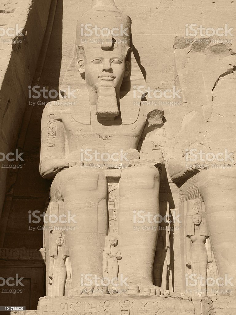 Ramses 2nd in Abu Simbel stock photo