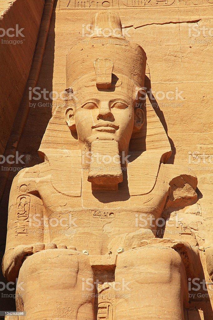 Ramses Abu Simbel temple royalty-free stock photo