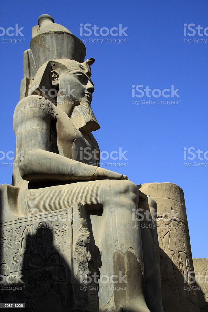 Ramses are the most known pharaoh stock photo