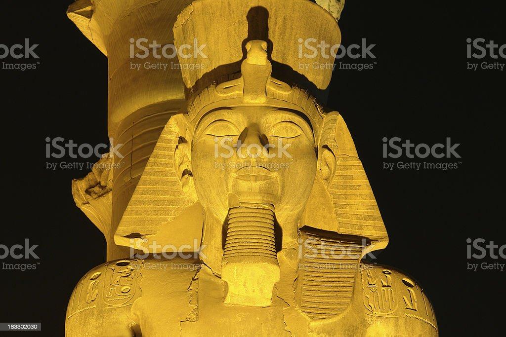 Ramses head by Night stock photo
