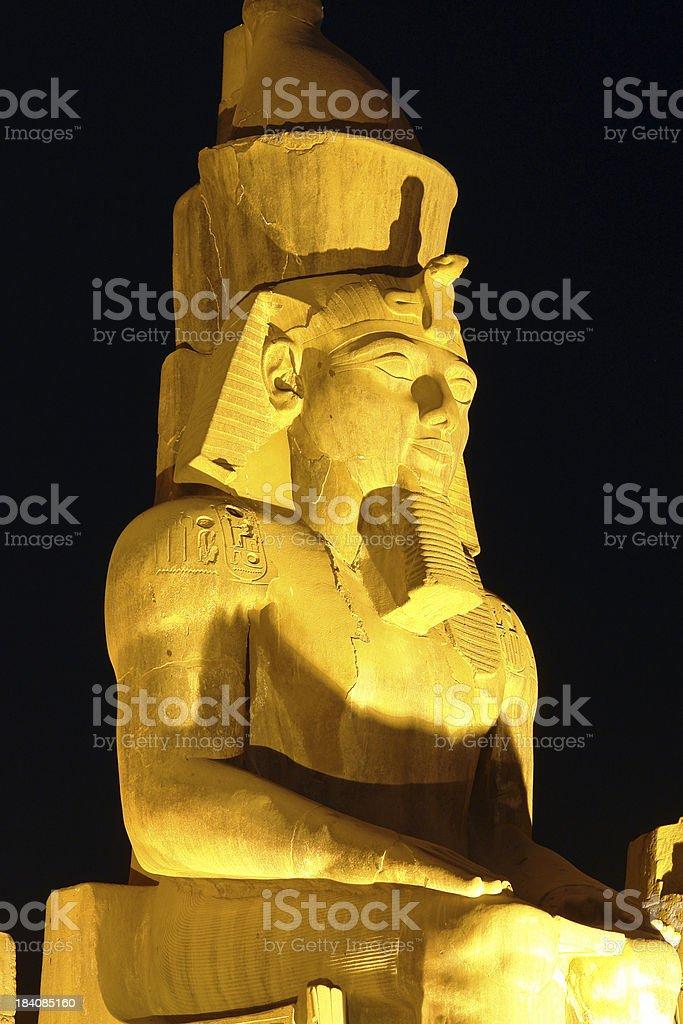 Ramses II in Luxor royalty-free stock photo