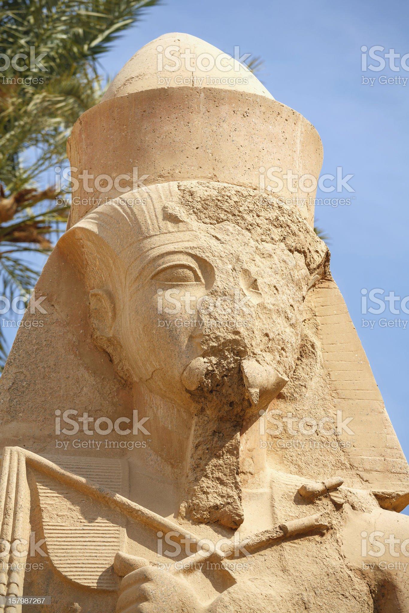 Ramses II. Karnak Temple. Luxor, Egypt royalty-free stock photo