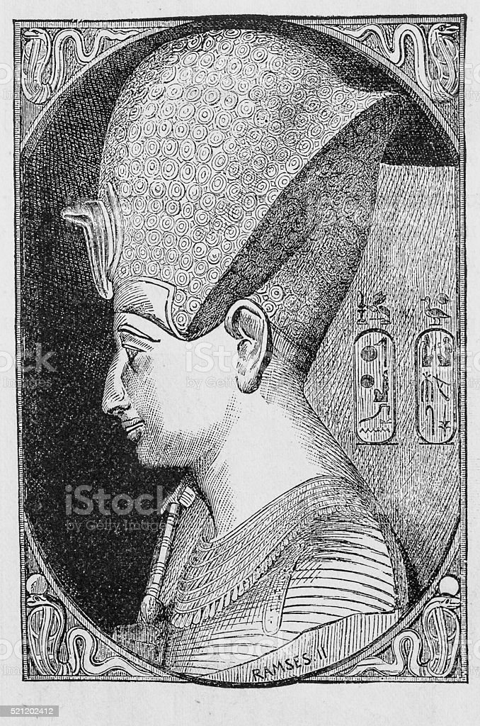 Ramses the Great stock photo