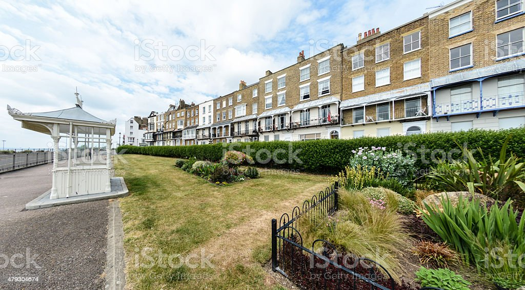 Ramsgate park and parade of hotels stock photo