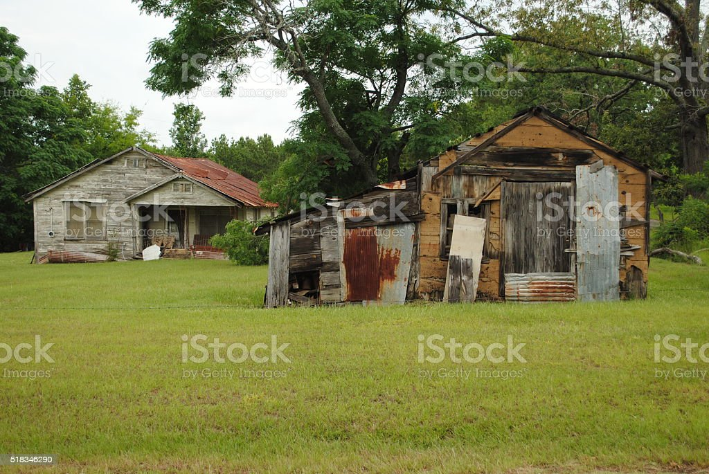 Ramshackle Houses stock photo