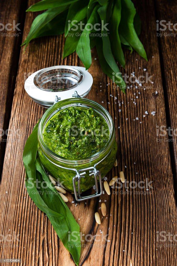 Ramson Pesto stock photo