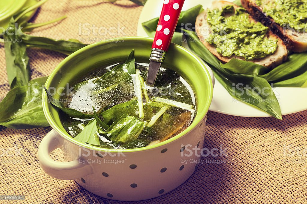 Ramson soup royalty-free stock photo