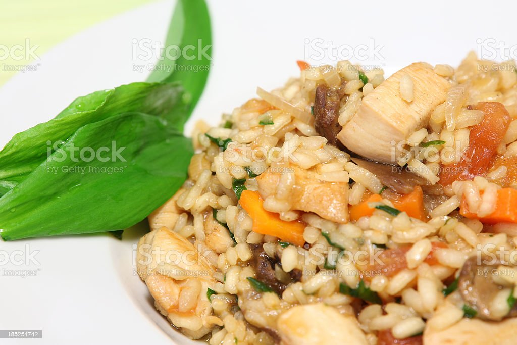 Ramson-Chicken Risotto royalty-free stock photo