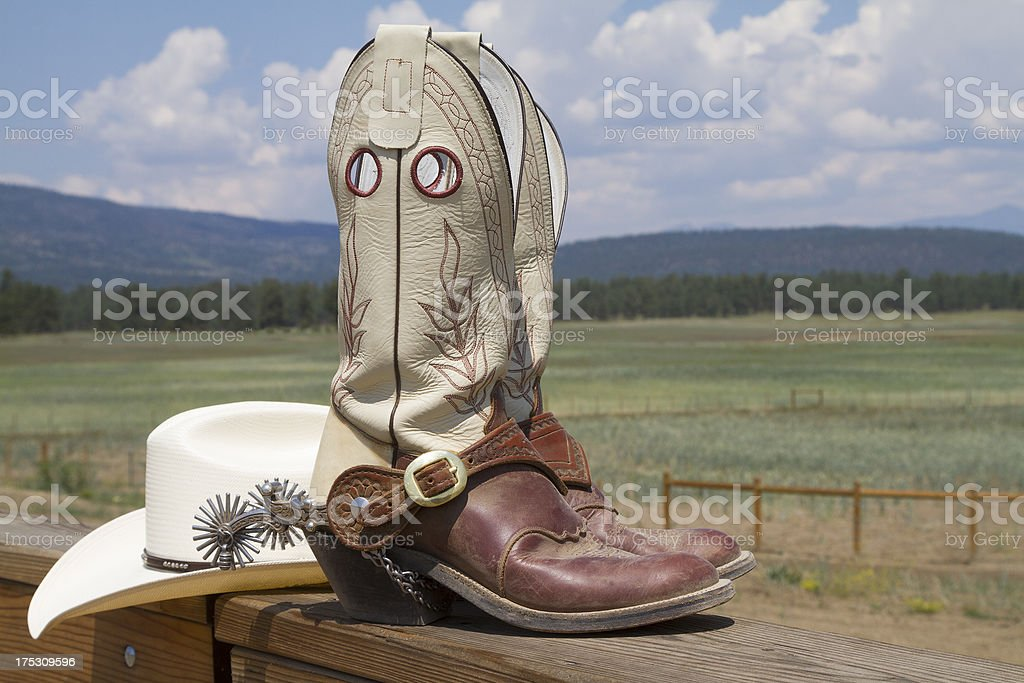 Ranch Boots royalty-free stock photo