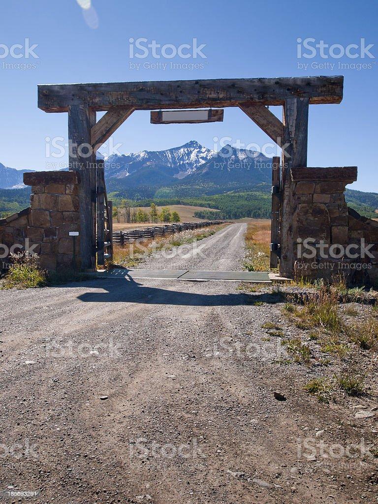 Ranch Entrance stock photo