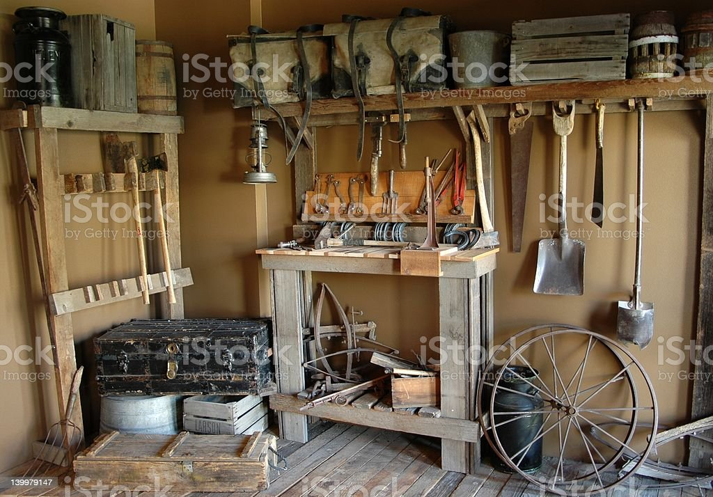 Ranch Equipment in Still Life stock photo