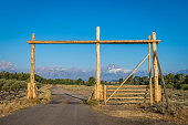 Ranch gate in Wyoming