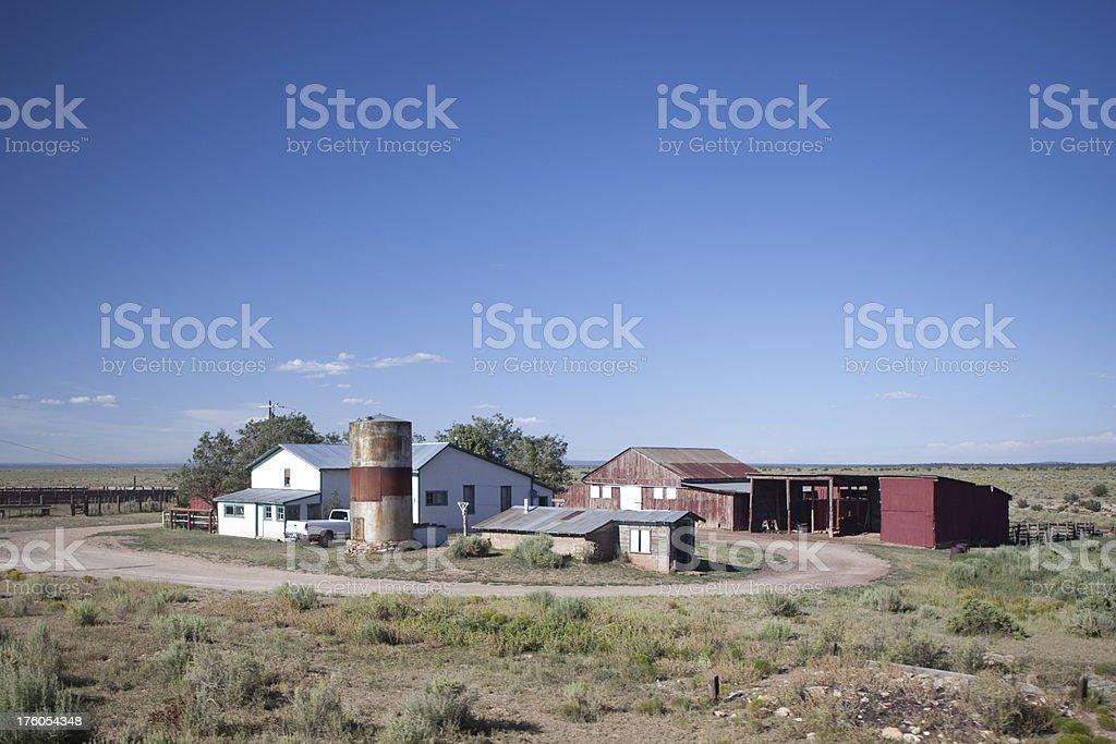 Ranch Homestead in Desert stock photo