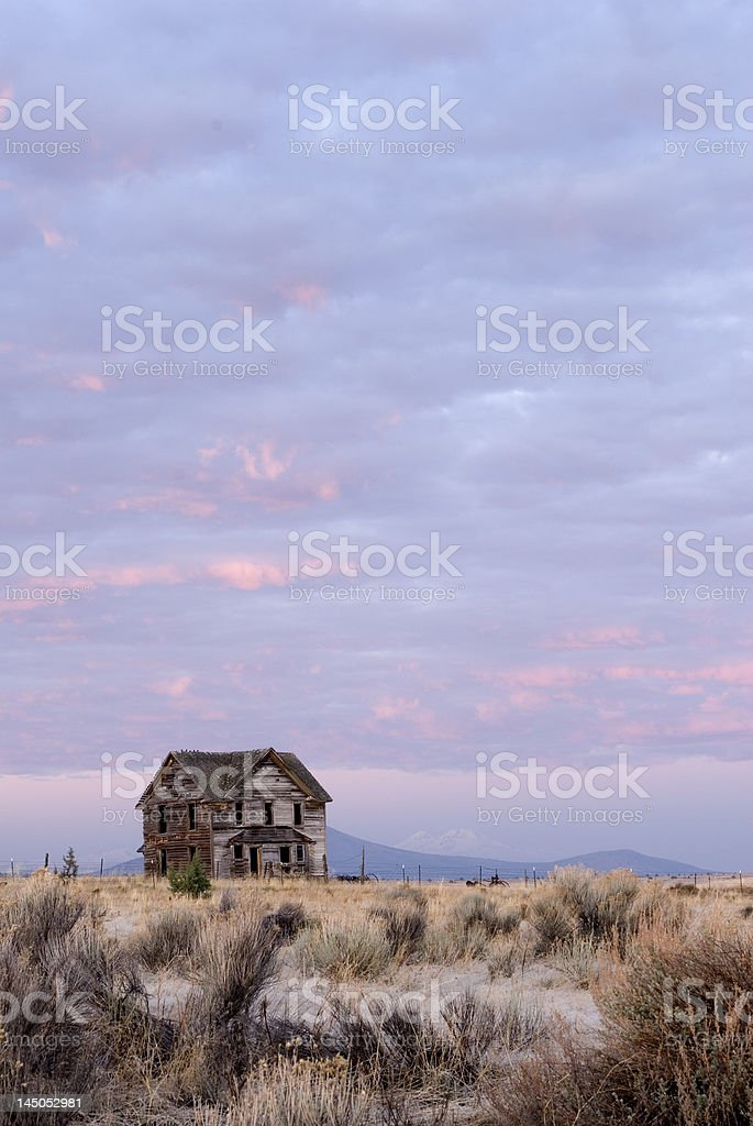 Ranch house abandoned royalty-free stock photo