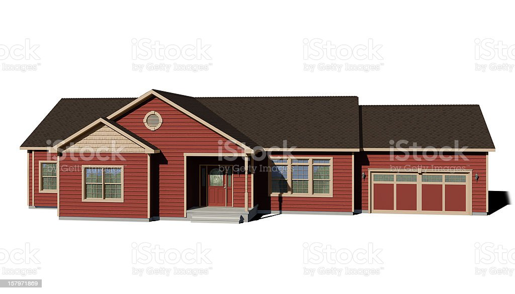 Ranch House - Red stock photo