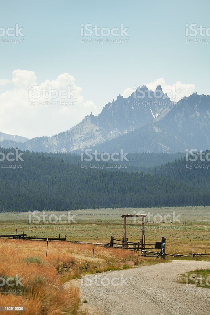 Ranch in Mountain Region of the Rockies royalty-free stock photo
