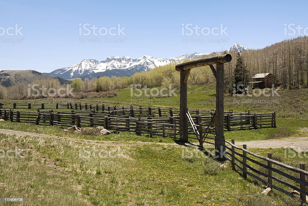 Ranch in the Mountains (more photos) royalty-free stock photo