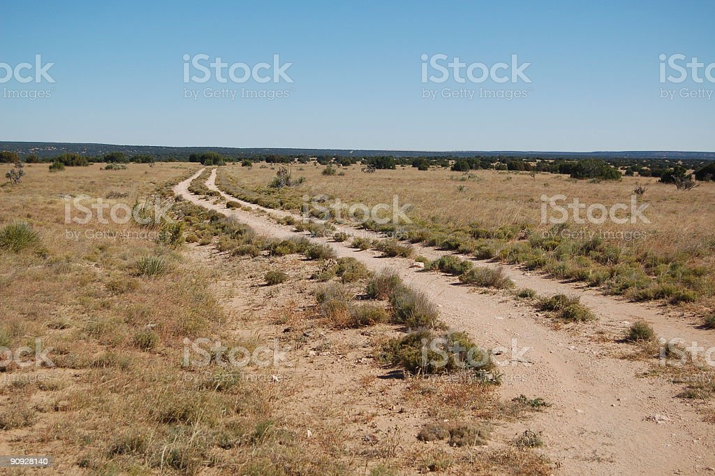 Ranch Road stock photo