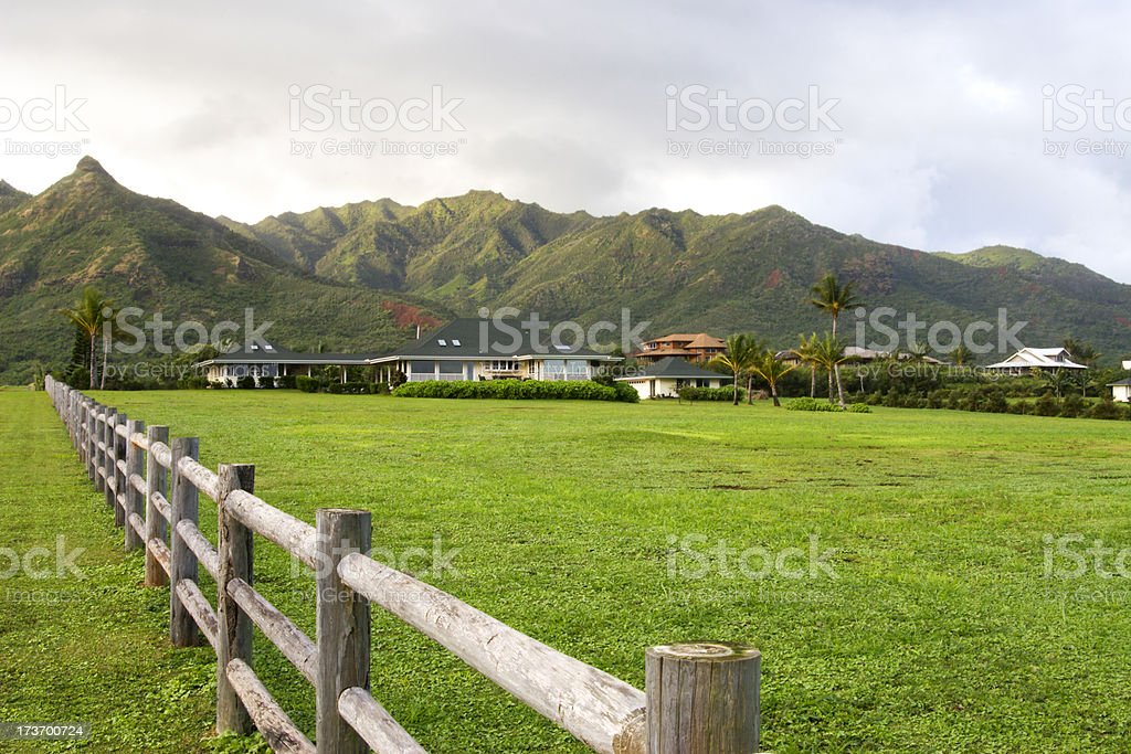 Ranch vacation home in Hawaii. stock photo