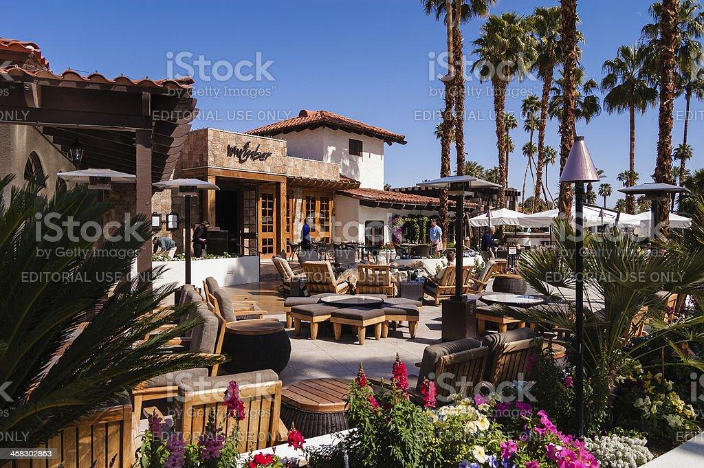 Rancho Las Palmas resort in Palm Springs, CA royalty-free stock photo