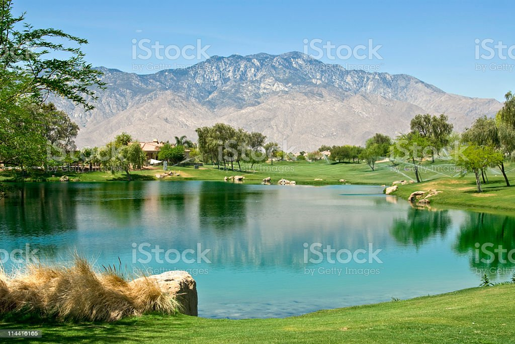 Rancho Mirage Golf Community royalty-free stock photo