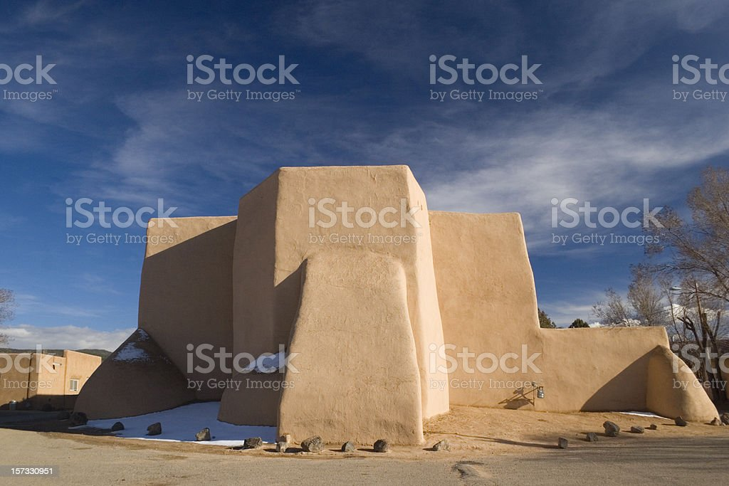 Ranchos Church Taos, New Mexico stock photo