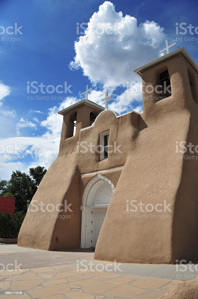Ranchos de Taos, NM, USA: St Francis of Assisi Church stock photo