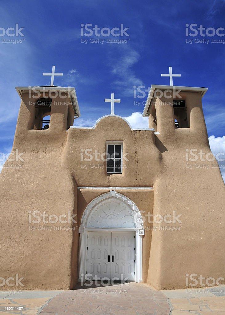 Ranchos de Taos, NM, USA: St Francis of Assisi Church stock photo