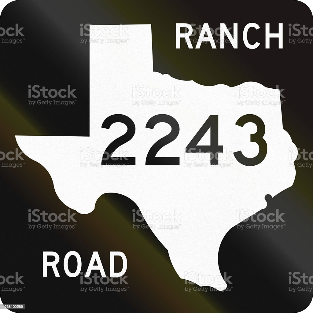 Ranch-To-Market-Road Shield stock photo