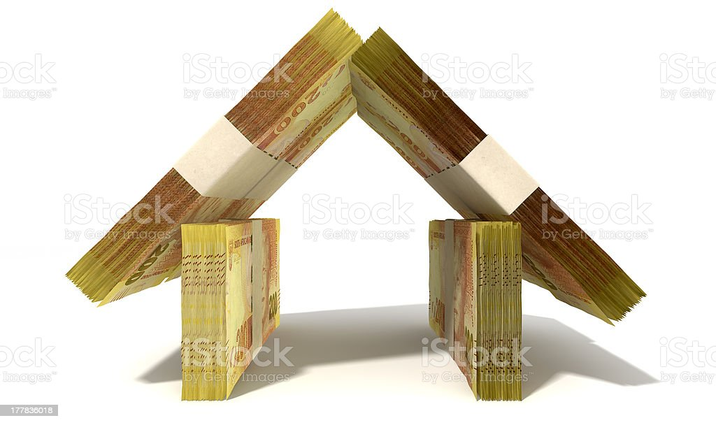 Rand Notes House Front stock photo