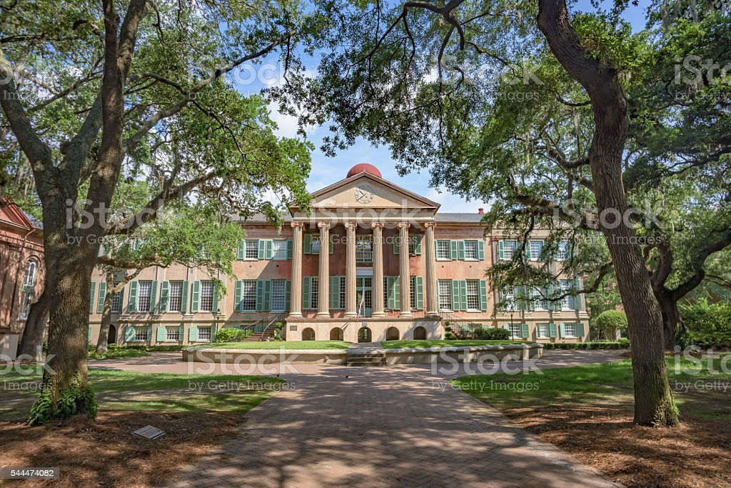 Randolph Hall, College of Charleston stock photo