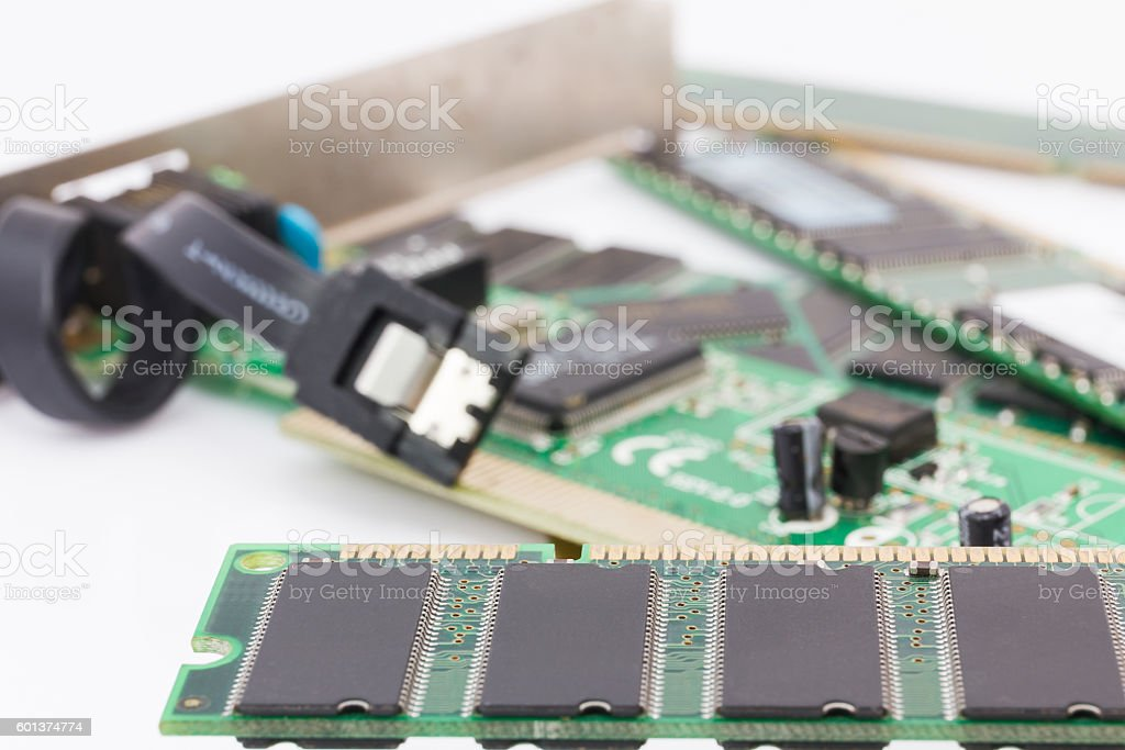 Random Access Memory (DDR RAM) stock photo