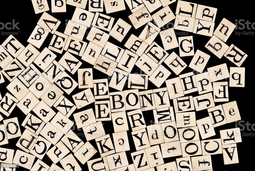 Random Alphabet royalty-free stock photo