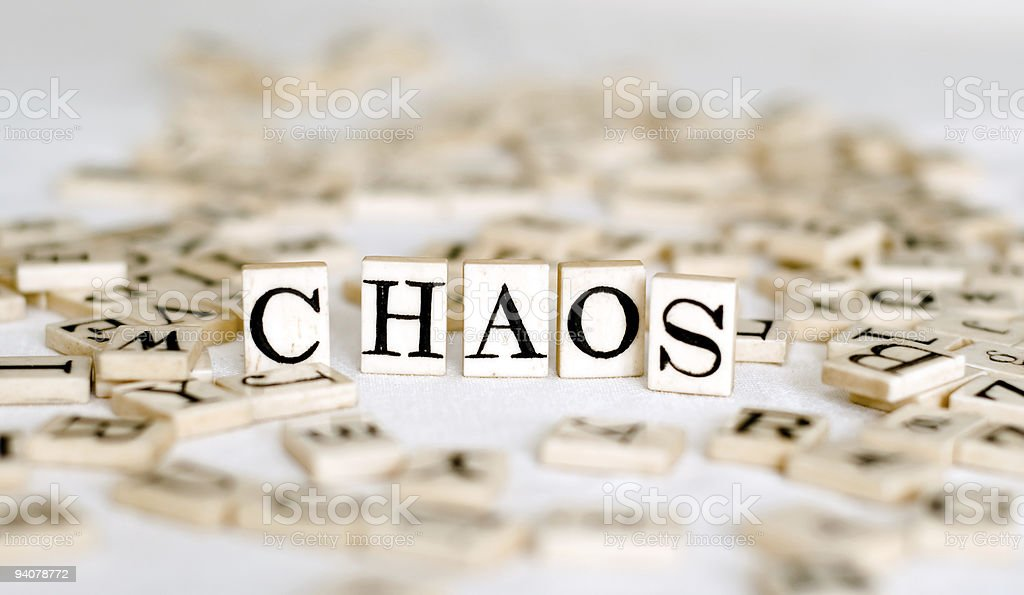 Random Alphabet with the word 'Chaos' royalty-free stock photo